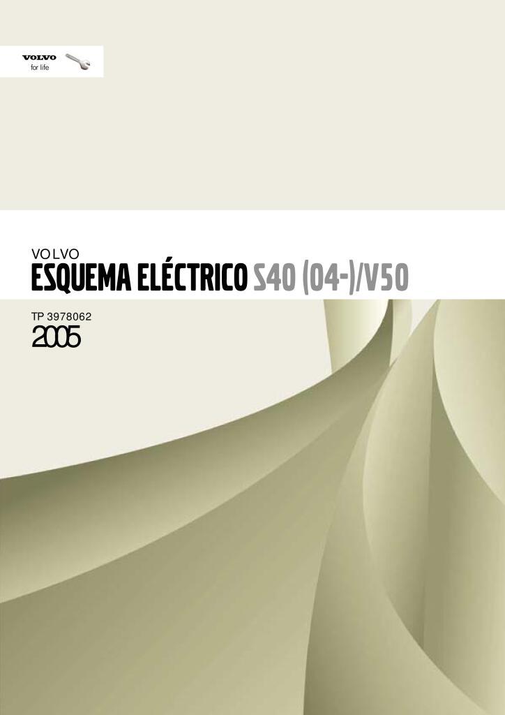 2005 Volvo S40 V50 Wiring Diagrams Service Manual Espanol Pdf  20 6 Mb