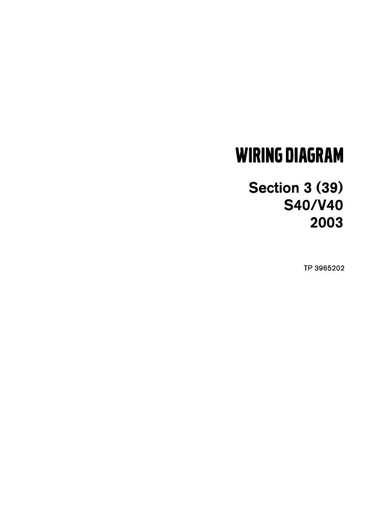 2003 Volvo Models S40 V40 Wiring Diagram Service Manual Pdf 5 38 Mb Repair Manuals English En