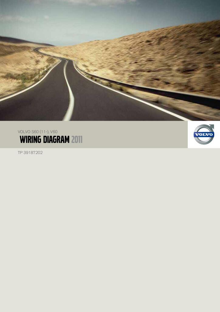 2011 Volvo S60 V60 Wiring Diagram Service Manual Pdf  45 5 Mb