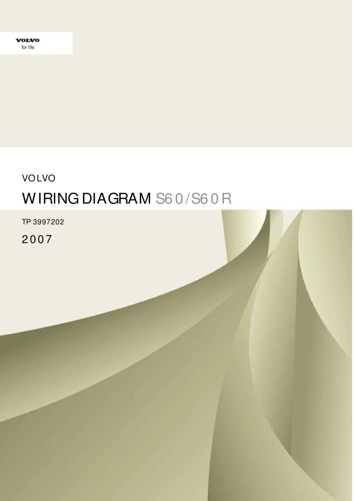 2007 Volvo S60 Wiring Diagram Service Manual Pdf  20 2 Mb  - Repair Manuals