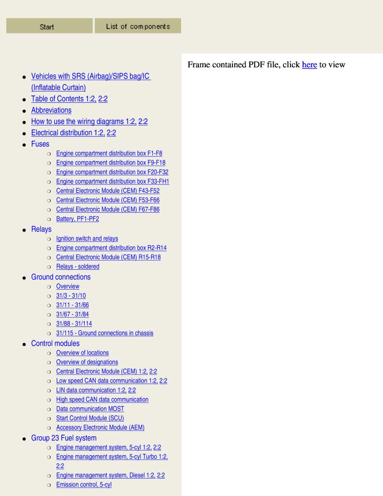2004 Volvo S40 V50 Wiring Diagram Service Manual Pdf  18 7